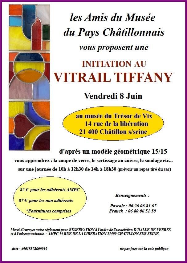 Un stage de vitrail Tiffany est proposé à tous par les Amis du Musée du Pays Châtillonnais