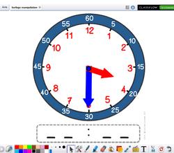 Horloge à manipuler sur activinspire