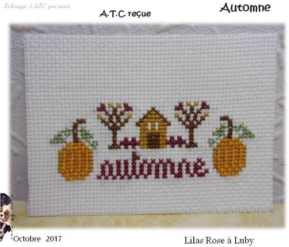 """ATC """"Automne"""" - Ronde n°1"""