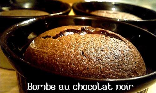 Bombe au chocolat noir