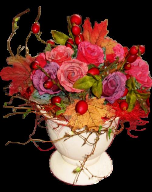 Fleurs  dans vase ( automne )1