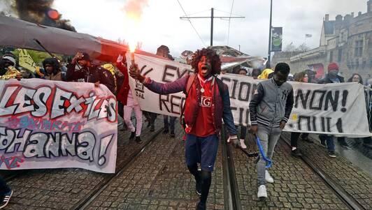 Manifestation contre les expulsions à Nantes