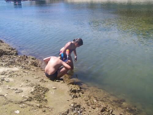 Après-midi les pieds dans l'eau