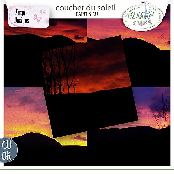 Coucher du soleil Papiers Cu de Xuxper designs