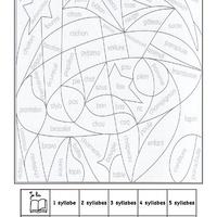 Coloriage Cp Syllabes.Coloriages Magiques Cp La Classe De Luccia