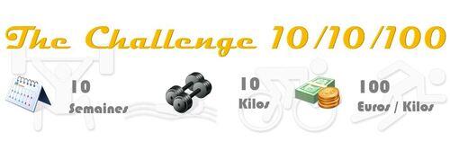 Lancement du challenge : 10 semaines 10 kilos 100 euros