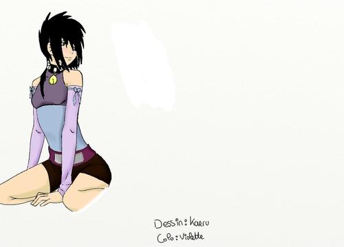 Violette dessin Sensei colo moi