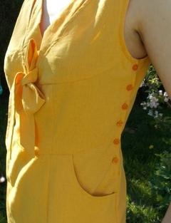 robe jaune boutonnage