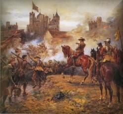 1647 Civil War painting Basing House