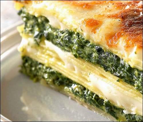 Recette de cuisine : Lasagnes - ricotta - épinards