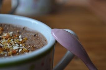 Mousses choco-lait et noisettes