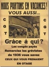 VIVENT LES VACANCES  POUR  TOUS  !  Par Georges Gastaud et Jo Hernandez, militants du PRCF, syndicalistes.