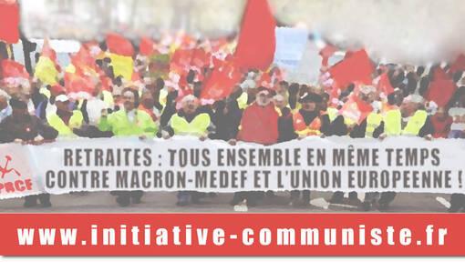 Retrait de la contre réforme des retraites, Macron démission. #Tract #5dec #Grève5décembre (IC.fr-26/11/19)