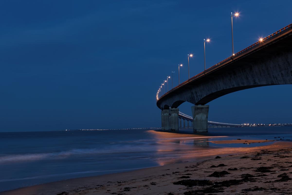 Île de Ré Les lumières du pont