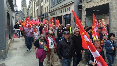 journée d'actions du 5/07 pour le retrait de la loi Travai-Bilan vu par la PQR (OF & LT)