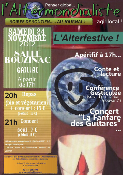Info en partage : L'Alterfestive... samedi 24 novembre 2012 à 17h