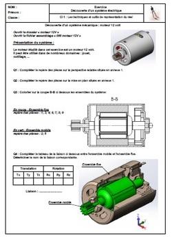 SN 102 Exercice repérage moteur 12v