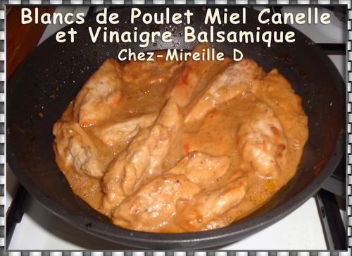 Blans de Poulet Miel Cannelle et Vinaigre Balsamique