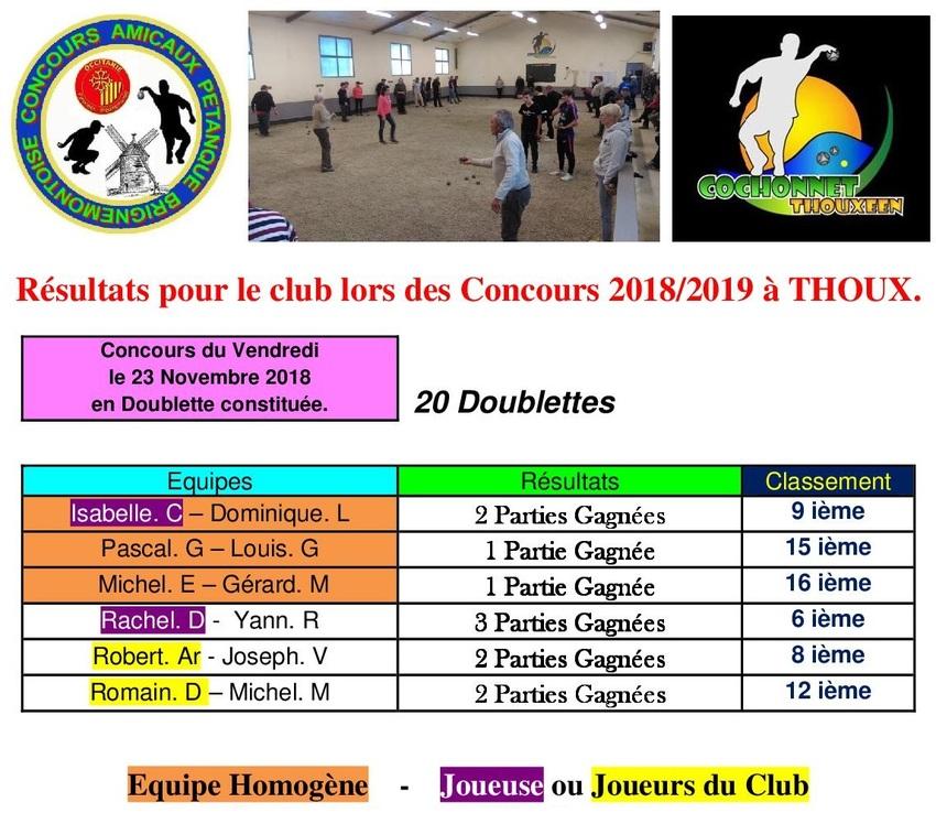 2 ième Concours du Vendredi.