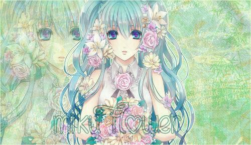 Thème Miku Flower