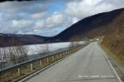 Route Alta - lac gelé