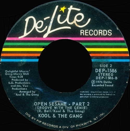 "Kool & The Gang : Album "" Open Sesame "" De-Lite Records DE 2023 [ US ]"