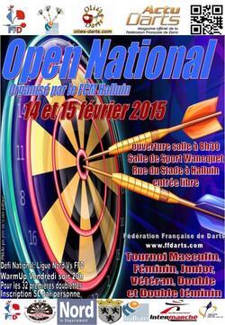 Open National 13, 14 et 15 Février 2015 par le FCM (Halluin - 59250)