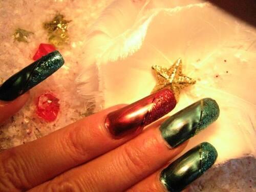 Nail Art : Aux couleurs de Noël 2013