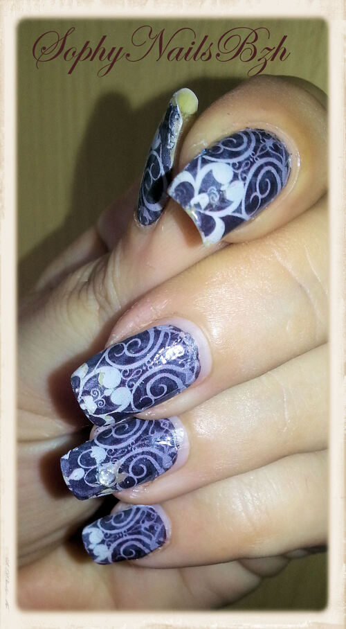 Nail Decal du style baroque
