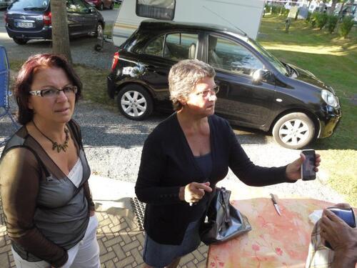Avec Thérèse et Carole