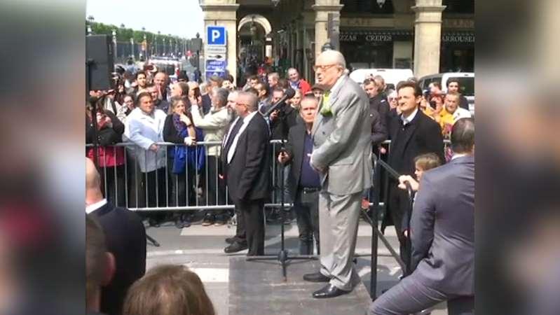 """Pour Jean-Marie Le Pen, """"l'incendie de Notre-Dame est un incendie criminel"""""""