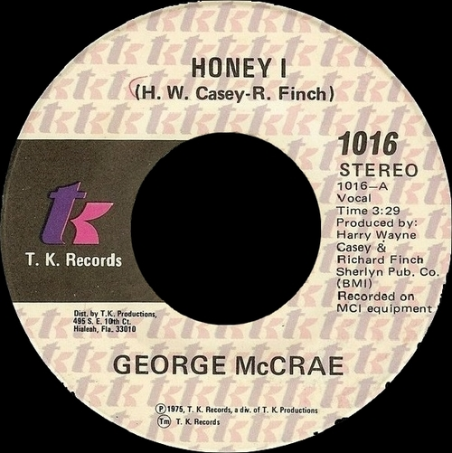 "George McCrae : Album "" George McCrae "" T.K. Records T.K.-602 [ US ]"