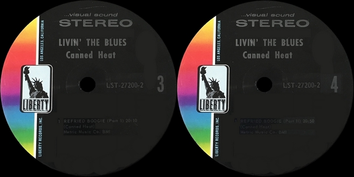 "Canned Heat : Album "" Living The Blues "" Liberty Records LST-27200 [ US ]"