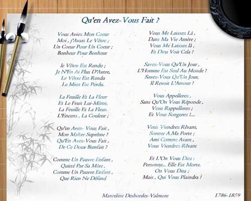 Poème De Marceline