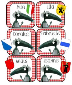 étiquette vestiaire --> la Suisse