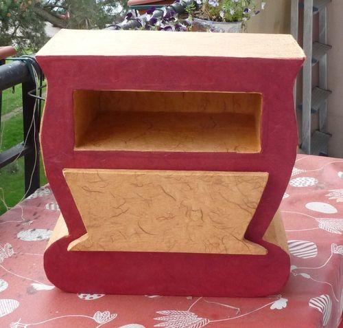 meuble carton rose jaune1