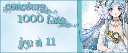Concours 1000 Fans - Jeu n°11