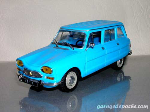 Citro n ami 8 break garage de poche voitures miniatures - Garage miniature citroen ...