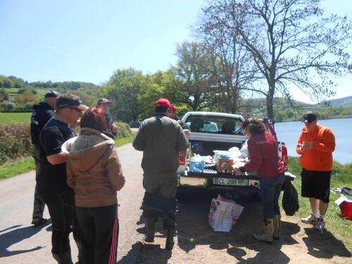 1 ère sortie carnassiers 2014 au lac du Crescent des membres du Pêcheur Morvandiau