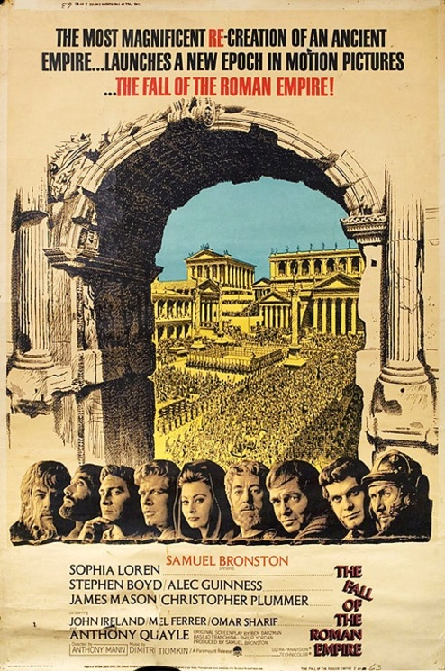 THE FALL OF THE ROMAN EMPIRE BOX OFFICE 1964