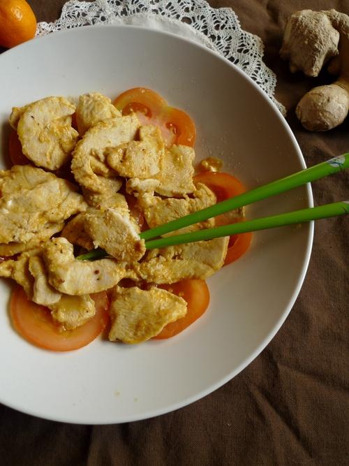 Poulet sésame, gingembre, mandarine