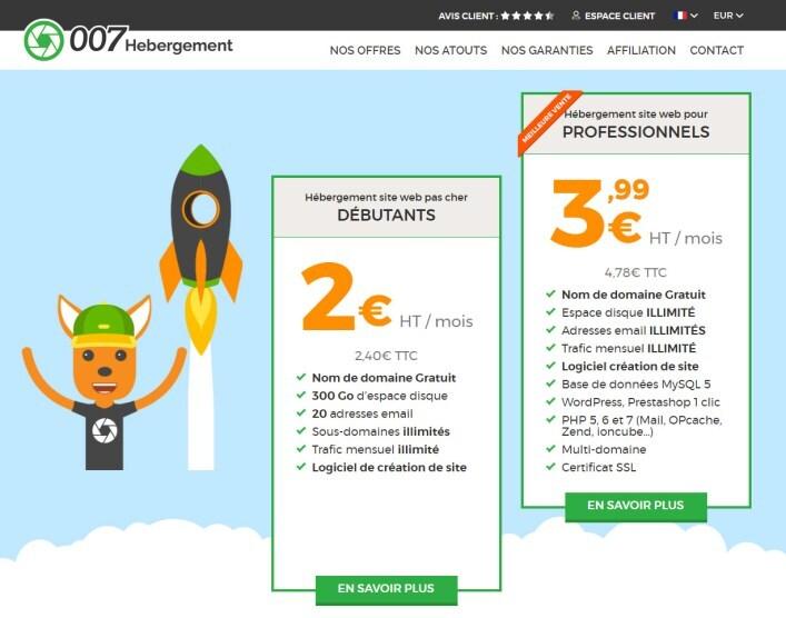 007 Hebergement Site Dedie A La Vente D Hebergements Web