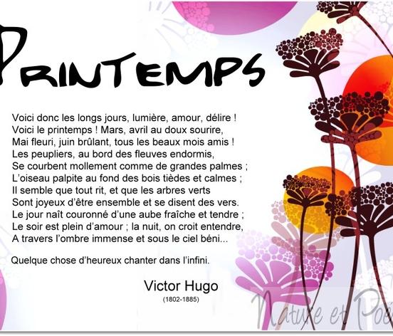Poèmes De Victor Hugo Printemps Le Monde De La Philo Et