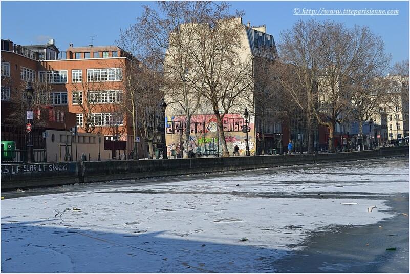 Le Canal Saint-Martin sous la glace - février 2012