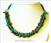 - Turquoise / Corail Mixed