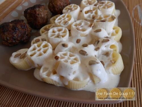 Boulettes de viandes et sauce aux 3 fromages