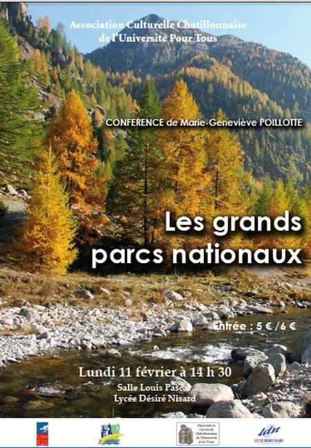 Les grands parcs nationaux, une conférence de Marie-Geneviève Poillotte pour l'ACC.