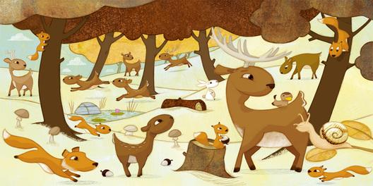 """Résultat de recherche d'images pour """"animaux foret illustration"""""""