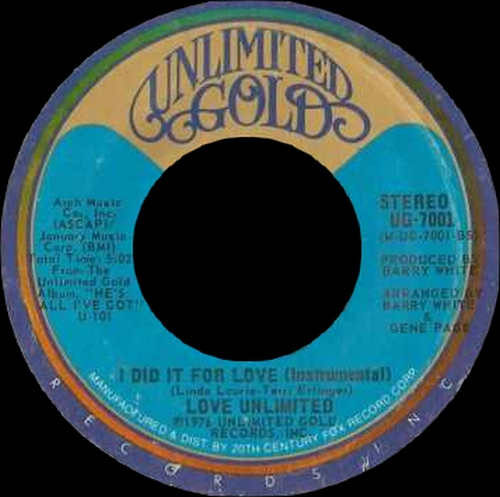 "The Love Unlimited : Album "" He's All I've Got "" Unlimited Gold Records U-101 [ US ]"