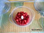 Bavarois mousses framboises chocolat blanc et sa génoise à la pistache